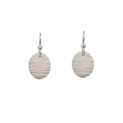 Sterling Silver Etched Oval Earrings