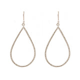 Sterling Silver Etched Teardrop Earrings