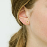 9 CT Gold Flower Studs