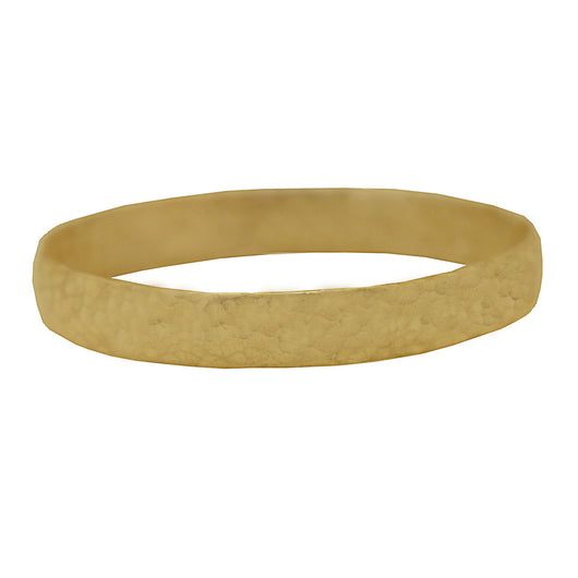 9 CT Gold Hammered Bangle
