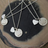 Sterling Silver Personalised Heart Necklaces