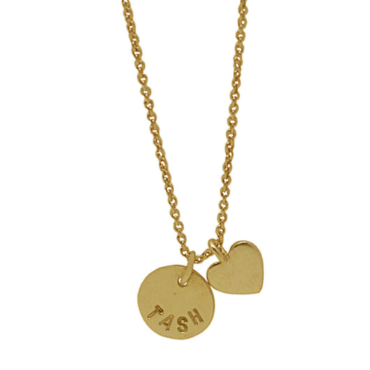 18 CT Plated Gold Personalised Heart Necklace