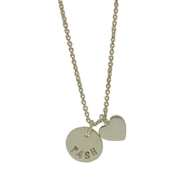 Sterling Silver Personalised Heart Necklace