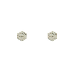 24 CT Plated Rose Gold Hexagon Studs