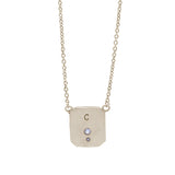 Sterling Silver Initial Lock Necklace