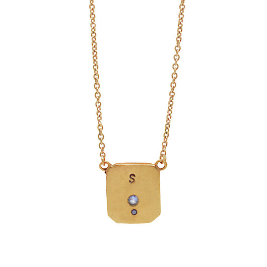 Gold Initial Lock Necklace