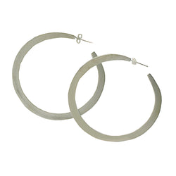 Sterling Silver Large Hoops