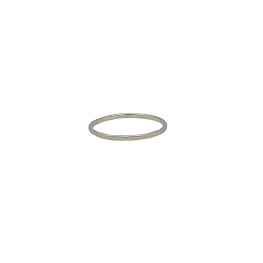 Sterling Silver Midi Thin Hammered Band