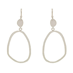 Sterling Silver Open Pebble Earrings