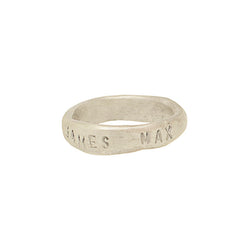 Sterling Silver Personalised Organic Band