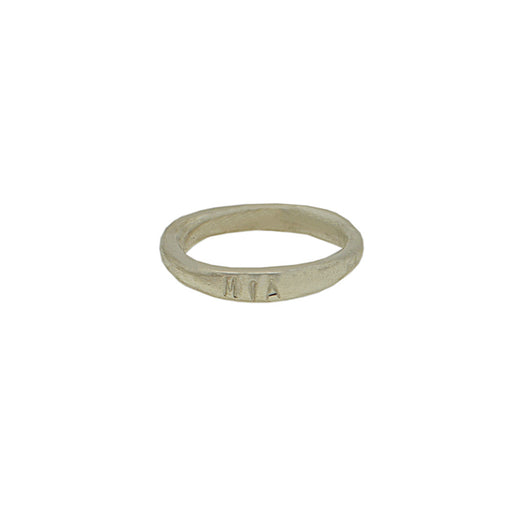 Sterling Silver Personalised Organic Band Thin