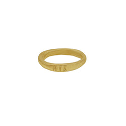 9 CT Gold Personalised Organic Band Thin