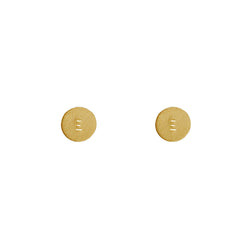 9 CT Gold Personalised Disc Stud Earrings