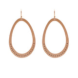 24K Plated Rose Gold Large Ovals with Dots