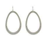 Sterling Silver Large Ovals with Dots