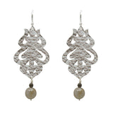 Sterling Silver Moroccan Flame Earrings with Labradorite Gemstones