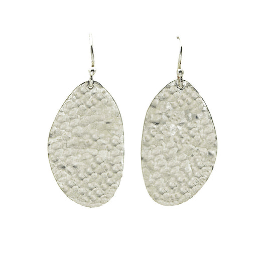 Sterling Silver Hammered Pebble Earrings