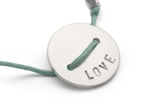 Seafoam: Button Bracelet - Love
