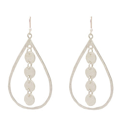 Sterling Silver Sequin Teardrop Earrings