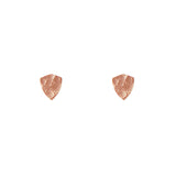 24 CT Plated Rose Gold Shield Studs