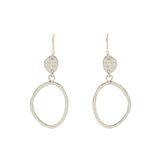 Sterling Silver Small Open Pebble Earring
