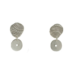 Sterling Silver Textured Wing Drop Earrings