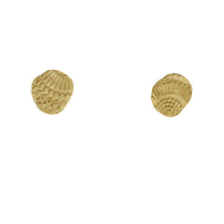 9 CT Gold Textured Wing Studs