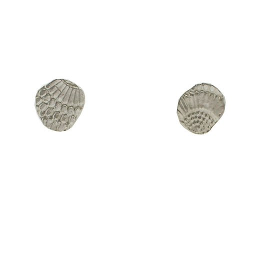 Sterling Silver Textured Wing Studs