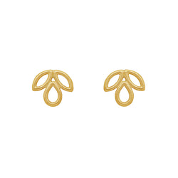9 CT Gold Tulip Studs