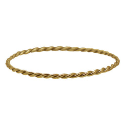 9 CT Gold Twisted Bangle