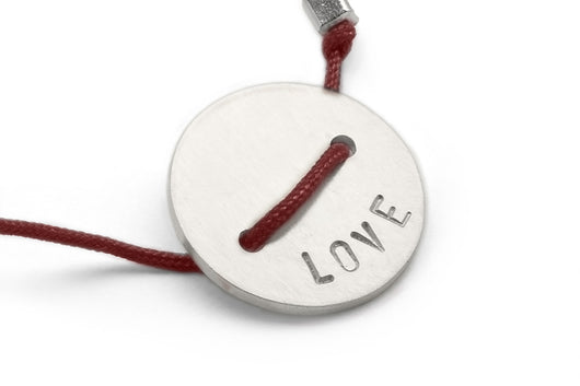 Wine: Button Bracelet - Love