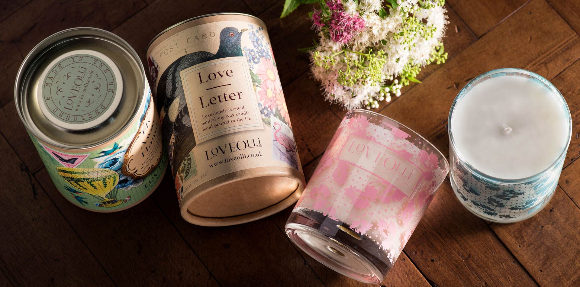 Love Olli Tin Scented Glass Candles