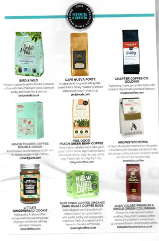 Bird & Wild Coffee features in Speciality Food Magazine