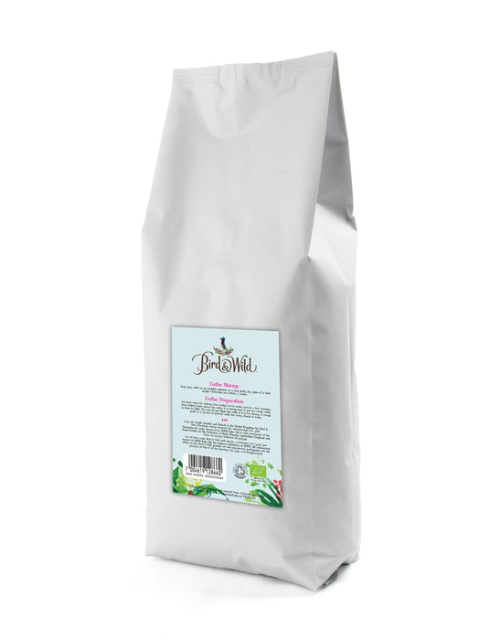Bird & Wild RSPB Coffee, Seasonal Blend Medium Roast, 500g, Whole Beans