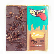 Cacao Nibs Dark Chocolate Bar