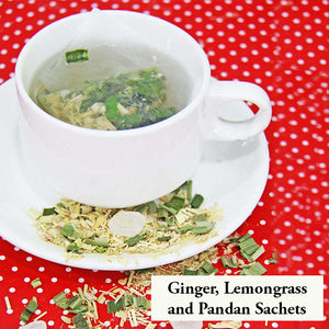 Healthy Drink - Ginger, Lemongrass and Pandan Sachets (Set of 3)