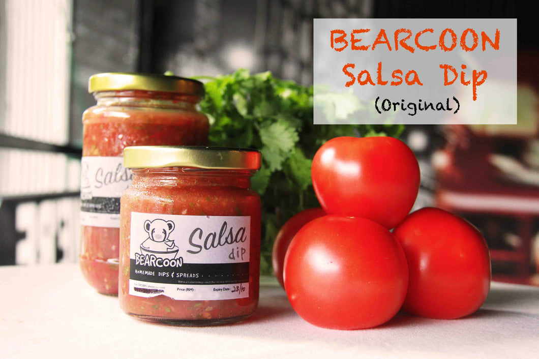 Special Bearcoon's Salsa Sauce (Small)  with 1 Pack of Tortilla Chips - HomeMadeMarket