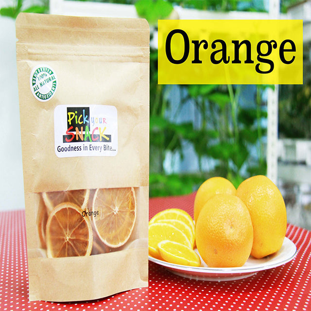 Orange 100% Natural Dehydrated Fruit. (3 packs per Quantity)
