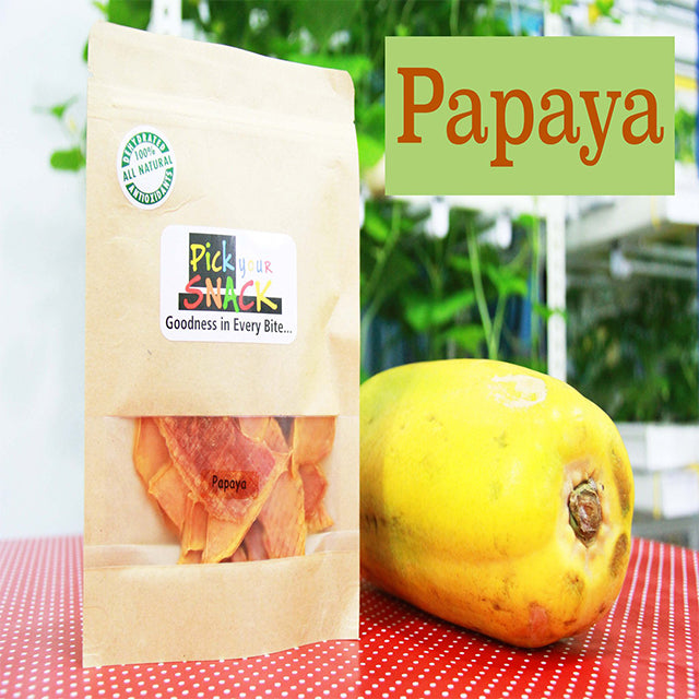 Papaya 100% Natural Dehydrated Fruits (3 packs per Quantity)