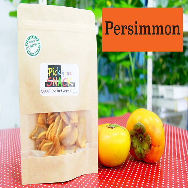 Persimmons 100% Natural Dehydrated Fruits (3 packs per Quantity)