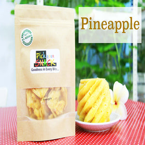 Pineapple 100% Natural Dehydrated Fruit. (3 packs per Quantity)