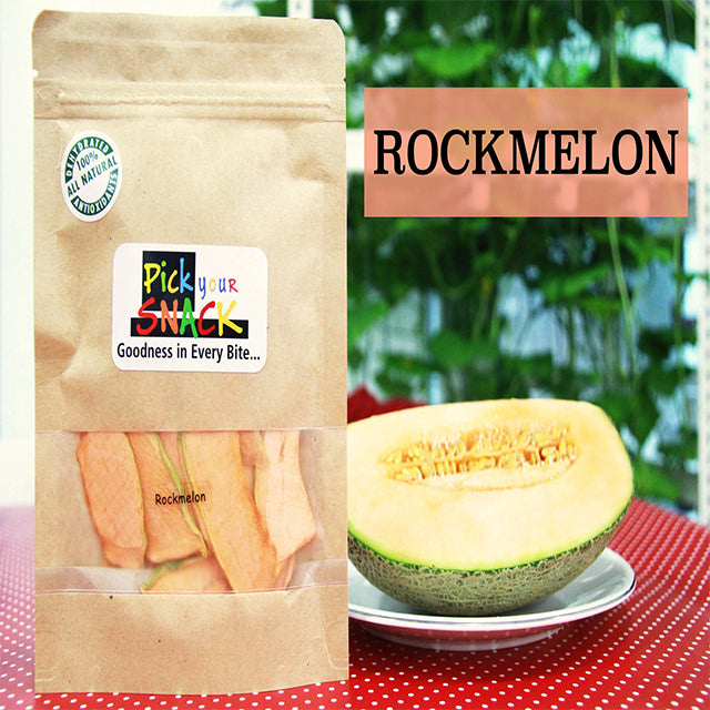 Rock Melon 100% Natural Dehydrated Fruits (3 packs per Quantity)