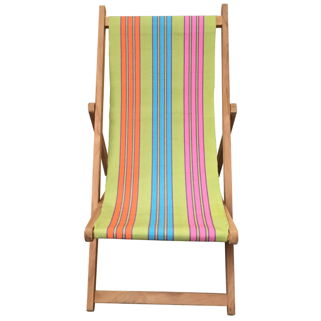 cribbage teak striped deckchair deckchair stripes. Black Bedroom Furniture Sets. Home Design Ideas