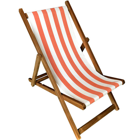 Jousting Striped Deckchair Front