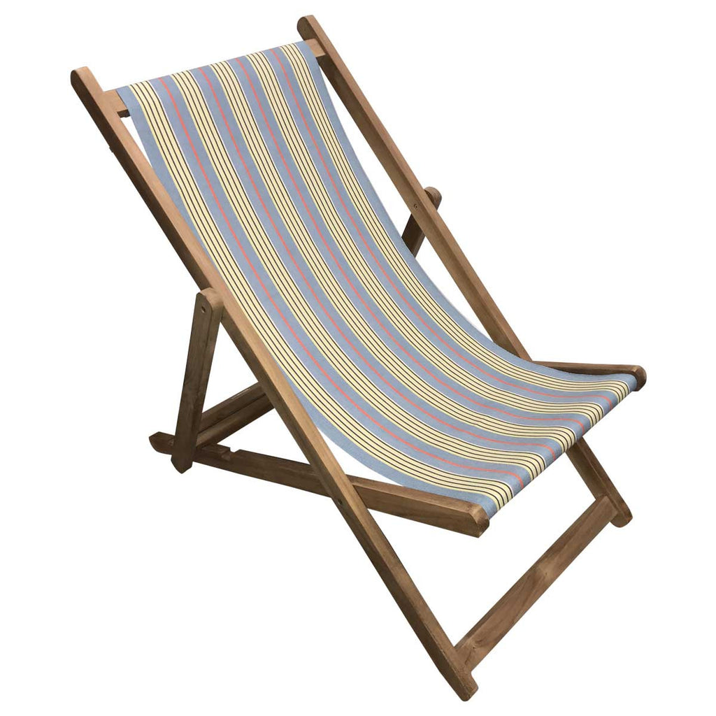 majorette teak striped deckchair deckchair stripes. Black Bedroom Furniture Sets. Home Design Ideas