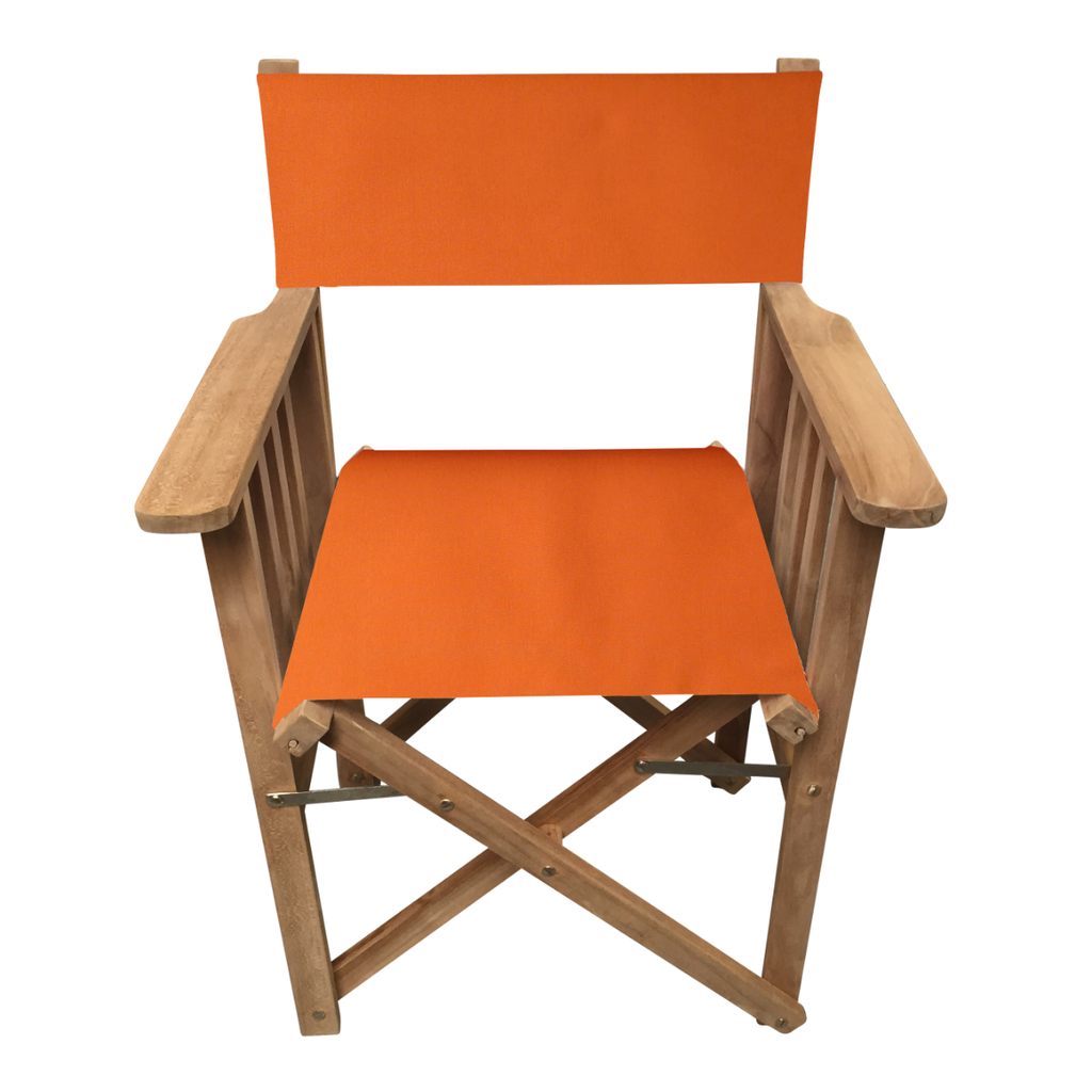 Orange Directors Chair. Deckchair Stripes