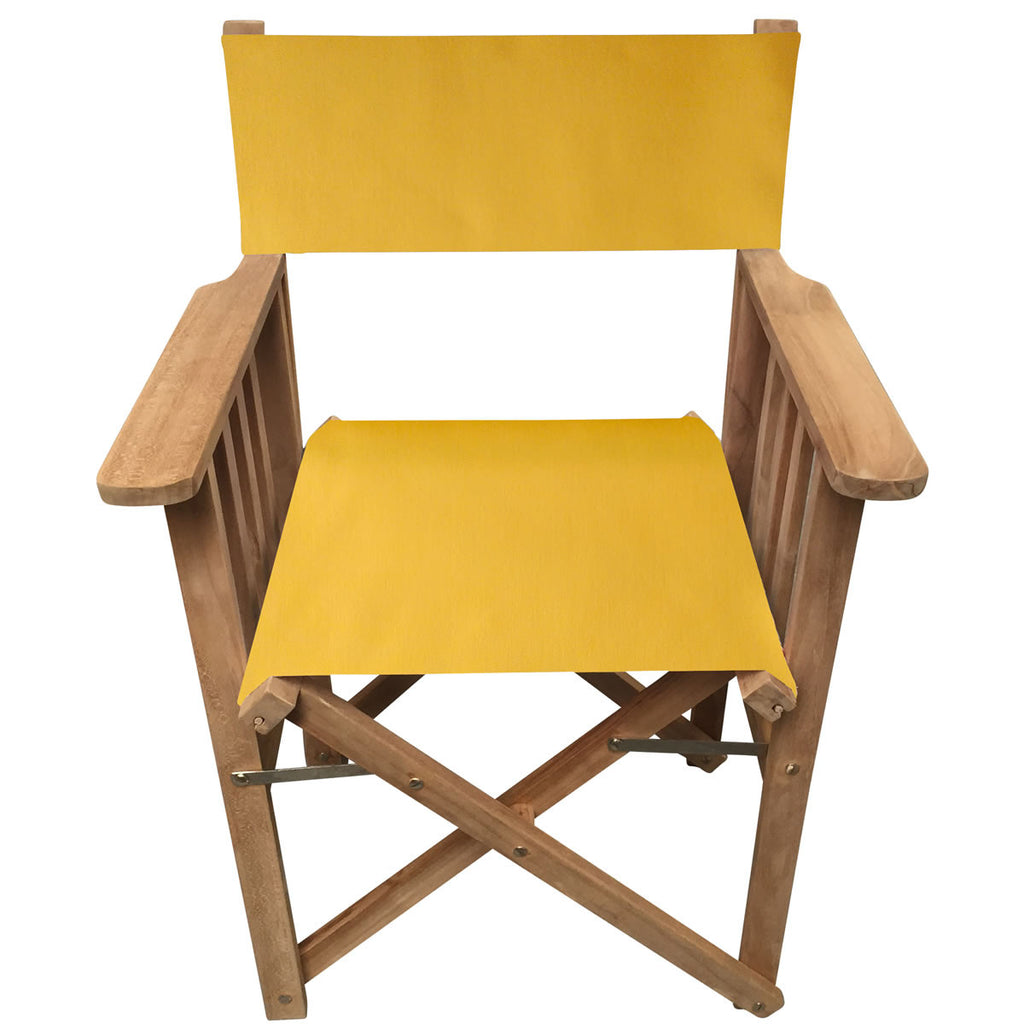 Yellow Directors Chair. Deckchair Stripes
