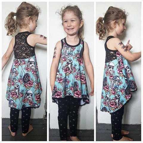 PDF-pakke/bundle: Tank Top Tunic With a Twist child + adult