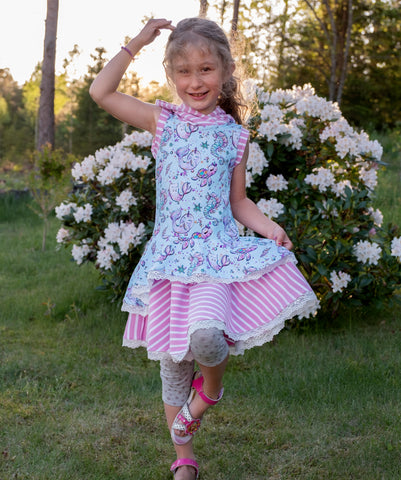 Mønsterark/Printed pattern: Fairy princess 80-164 (US 12m-14y)