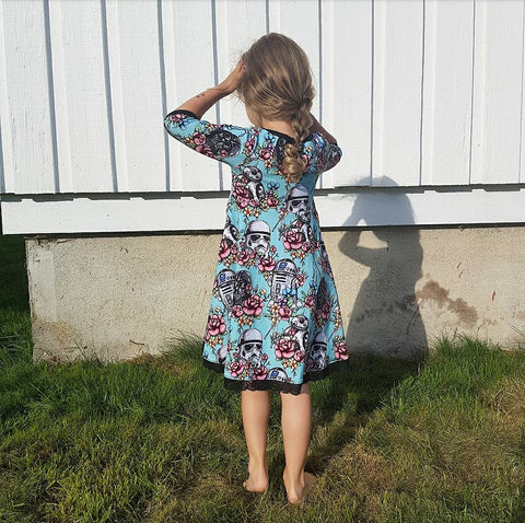 PDF-mønster/pattern: Add on child dresses